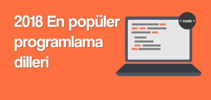 2018 En popüler programlama dilleri