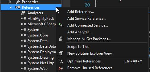 visual studio nuget package